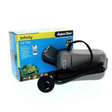 AP750 Infinity Air Pump Twin 2 x 200 L/Hr 11131 Fish Tank Aquarium Aqua One