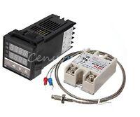 Digital PID Temperature Controller 220V +Max.40A SSR +K Thermocouple Probe Cable