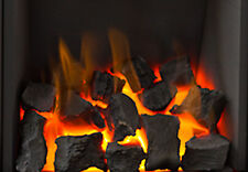 """New Living Flame COAL Effect Gas Fire TAPERED Inset Fire Tray Choice of 3 16 """""""