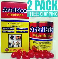 2 pack ARTRIBION ortiga CURCUMA ARTHRITIS join pain 30 SOFTGEL ARTICULACIONES