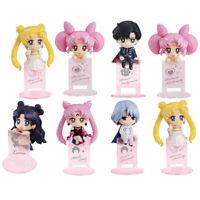 Salior Moon Tsukino Usagi Chibiusa Anime Action Figure Kids Toy Doll Gift 8 Pcs