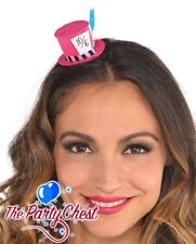 MAD HATTER MINI PINK TOP HAT HAIR CLIP Alice In Wonderland Party Fancy Dress 273