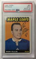 *SIGNED* 1965-66 Topps #82 RON ELLIS *ROOKIE CARD* ~ *PSA* 5 EX / AUTO 10 *MINT*