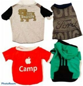 Pet Shirt Sample Bundles Four shirts Dog Cat Size Small