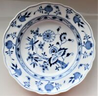 Antique Meissen Blue Onion Deep Plate Soup Dish Early 20th Century 23.5cm wide