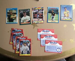 Mark McGwire Baseball Cards 1987-1989 Collectible Great Condition Classic Cards