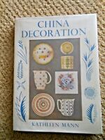 China Decoration Kathleen Mann Painted Porcelain Pottery Art Painting Home Craft