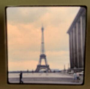 1965 Kodachrome Photo Slide 35mm Eiffel Tower Paris France Kodak