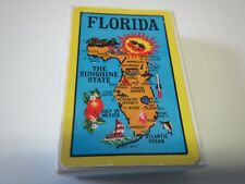 VINTAGE SUNSHINE STATE MAP OF FLORIDA MINIATURE MINI SET DECK OF PLAYING CARDS