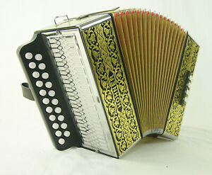 Accordion Diatonic Hohner 2915 Luxury Vienna + Shoulder Straps And Cover. New
