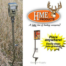 """HME Trail Game Camera Holder Ground Mount Stake Pole Open Field 26""""-36"""" TCH-G"""