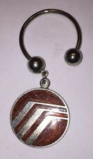 Tone Keychain Ring Horseshoe Style Kj Vintage Mercury Sable Enamel And Silver
