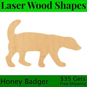 Honey Badger Laser Cut Out Wood Shape Craft Supply - Woodcraft