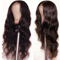 Best #2 Dark Brown 100% Real Human Hair Lace Front Wigs Straight Body Wave Wig P