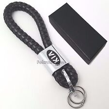 Kia PU leather & chrome metal key ring with gift box