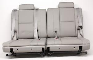 OEM Cadillac Escalade Third Row Seat Gray Leather