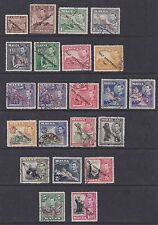 Malta 1948-53 Used Full Set Definitives 22 values King George VI Castle Statue