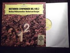 Beethoven symphony No.1-No.2 by H. Von Karajan - Deutsche Grammophon vinyl