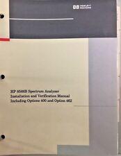 HP 8566B Installation & Verification Manual Incl Option 400/462 PN 08566-90146