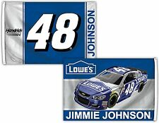 Jimmie Johnson #48 Deluxe 2-SIDED 2016 3x5 Flag w/grommets Banner Nascar Racing