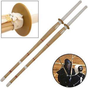 Set of 2 Japanese Kendo Shinai Bamboo Practice Training Katana Samurai Sword New