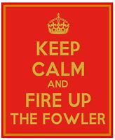 """FOWLER (Steam Traction Plouging Engine or Roller) """"KEEP CALM"""" METAL SIGN PLAQUE"""