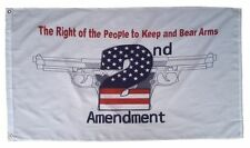 3x5 2nd Second Amendment The Right to Bear Arms Flag 3'x5' White Banner