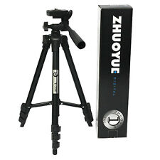 Portable Black Digital Camera DSLR Camcorder Pan Head Tripod Stand for Sony