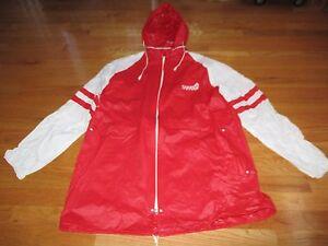 Vintage SARATOGA HORSE RACING (LG) Rain Coat Jacket w/ Removable Hood