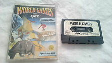 WORLD GAMES SPECTRUM SINCLAIR ZX CAJA GRANDE 48K 128K PAL