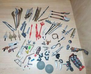 Lot of 90 Teenage Mutant Ninja Turtles TMNT Weapons/Accessories/Swords 2002-2004