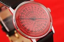24 hours mode Russian wrist watch Polar Bear Ex Rare OLD stock cal 2623 Raketa