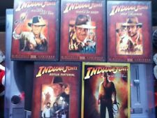 New listing Indiana Jones (Lot of 5 Dvds) Raiders Ark Temple Doom Last Crusade Crystal Skull