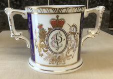 CROWN DERBY LOVING CUP QUEEN ELIZABETH & PHILIP 50th Wedding Anniversary