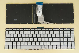 Hebrew HE Keyboard for HP 15-bp 15-br 15-bs 15-bw 15-cc 15-cd Silver, Backlit