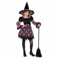 Girls Darling Witch Costume Halloween Fancy Dress Outfit Child's Kids 4-6 years