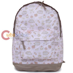 Pusheen Large Backpack Cupcake Snack All Over Print Pink Girls Book Bag