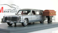 Scale model car 1:43 Cadillac S&S hearse black/silver 1966