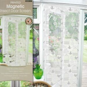Magnetic insect door screen 90x210cm birds design- home protection &easy Install