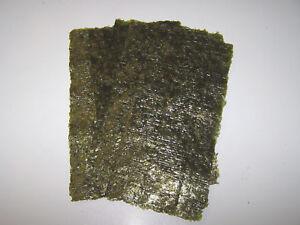 10 Sheets Dried Nori Seaweed - Marine Fish Food
