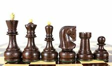 "Wenge Wood Zagreb Staunton Wooden Chess Set Pieces King size 4"" with Storage Box"