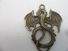 6 X Large Dragon pendants/Charms /Antique Bronze~35x28x2mm hole2.5mm
