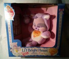 Vintage 1986 Care Bears Cousins Cubs Li'l Bright Heart Plush Flocked Orig. Box