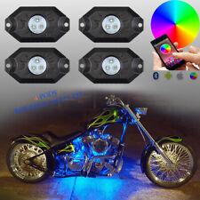For Honda GL1500 GL1800 4x RGB LED Rock Lights Bluetooth Multi Color Motorcycle
