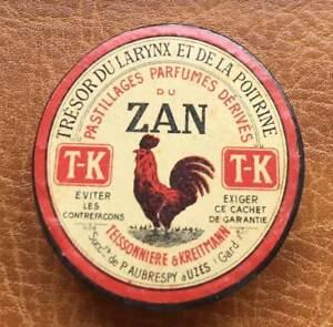 Boite carton Pastillages parfumés dérivés ZAN T-K, Aubrespy à Uzès ( Gard )