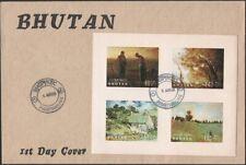 BHUTAN, 1968. First Day  Cover Paintings Souvenir Sheet 96q