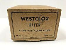 Vintage Westclox Black Raven USA Alarm - Empty Box Only -
