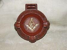 Vintage 1940s Composition Masonic ASHTRAY MASONS Freemasonry