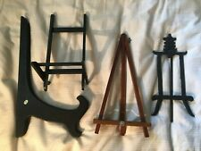 4 Easels Plate Holders Dish Rack Picture Frame Photo Holders Display Stands