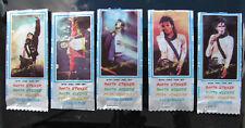 Michael Jackson Lot (5) Chewing Gum Wrapper Empty Pack Bubble Stick Set 1989